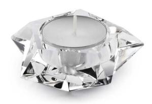 Portacandela in cristallo a forma di stella cm.3h diam.7,5