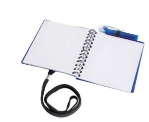 Blue notebook soft pp con penna cm.11,6x11,4x1h