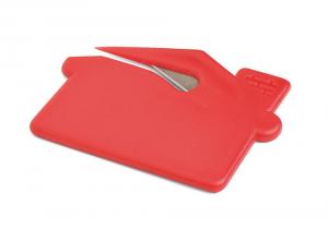 Apribusta lettere in plastica rossa cm.7x5,3x1h