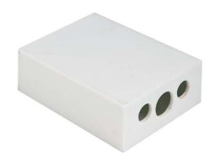 Tempera matite in plastica bianca cm.7x4,2x2,2h