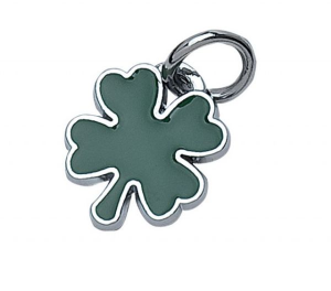 Charms quadrifoglio verde cm.1,5x1,8x0,5h