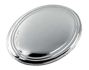 Blasone ovale in argento cm.3,5x2,6x0,3h