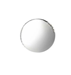 Blasone tondo liscio in argento cm.0,3h diam.2,5