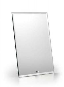 Specchio rettangolare con supporto verticale cm.17x1,5x22h