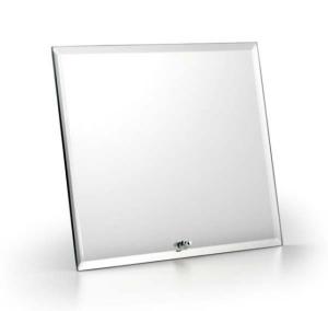 Specchio rettangolare con supporto orizzontale cm.14x1,5x19h