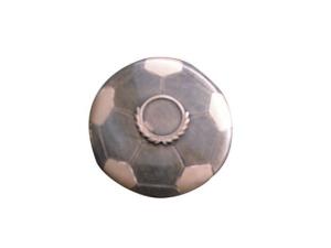 Trofeo pallone calcio in due colori cm.2h diam.10