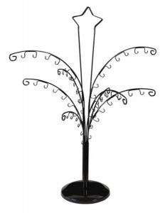 Espositore nero ad albero cm.40x40x57h diam.15