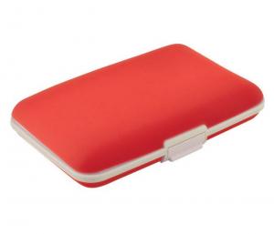 Portabiglietti silicone rosso cm.11x7x2h
