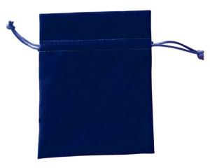 Busta velluto blu cm.13,5x9x0,2h