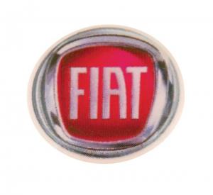 Fiat etichetta d=14mm cm.1,4x1,4x0,2h