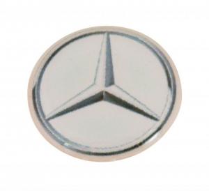 Mercedes etichetta d=14mm cm.1,4x1,4x0,2h