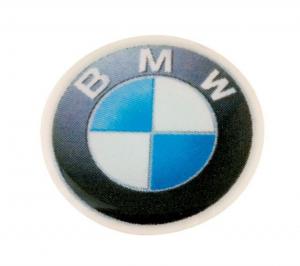 Bmw etichetta d=14mm cm.1,4x1,4x0,2h