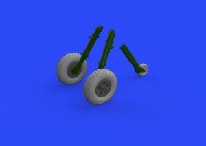 Spitfire Mk.IX wheels 5spoke w/ pattern (TAMIYA)