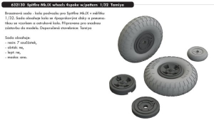 Spitfire Mk.IX wheels 4 spoke with pattern (TAMIYA)