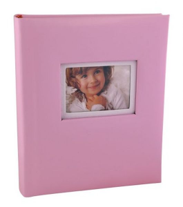 Album portafoto rosa 30 fogli cm.22,5x26,5x3,5h