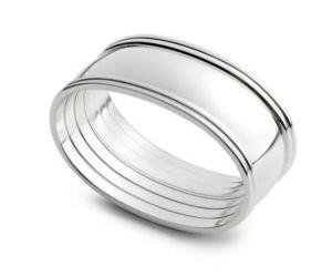 Portatovagliolo ovale in silver plated 1 pezzo stile Inglese cm.5,5x3,8x2,2h
