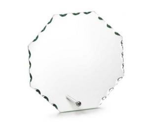 Trofeo in vetro con supporto forma circolare cm.13x14,5x1h
