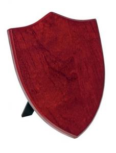 Crest scudo legno MDF mogano cm.10,2x1,5x15,3h