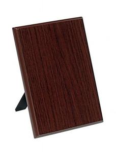 Crest targa legno noce cm.10x1,5x15h