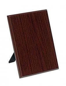 Crest targa legno noce cm.12,5x1,5x17,5h