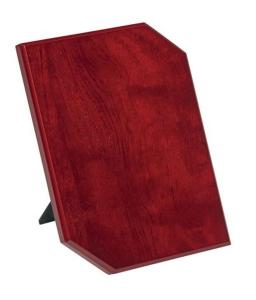 Crest pergamena legno mogano cm.12,7x1,2x17,8h