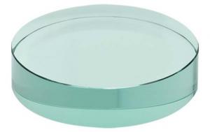 Fermacarte Tondo in vetro verde cm.1,2h diam.8