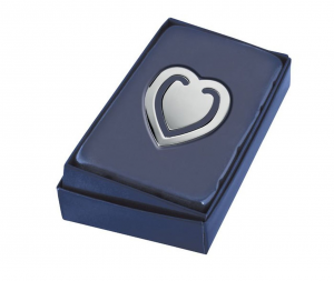Segnalibro cuore argentato argento silver plated cm.4,7x4x0,2h