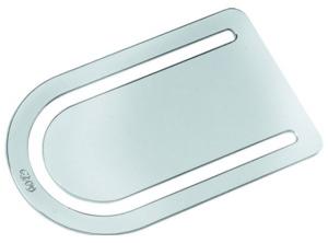 Segnalibro oval in silver plated cm.6x3,5x0,2h