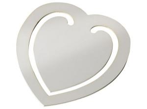 Segnalibro cuore grande argento silver plated cm.8,3x7,8x0,2h