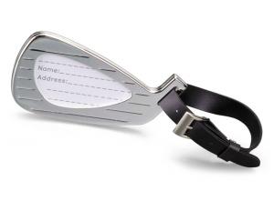 Targhetta per Valigia Golf in silver plated Argento cm.9,5x5x1h