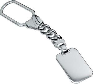 Portachiavi in argento 925 anemone cm.11,5x2,2x0,5h