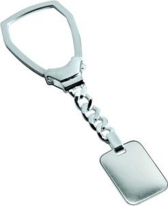 Portachiavi in argento 925 giglio cm.9,1x2,5x0,5h