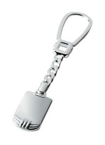Portachiavi in argento 925 nodo cm.9,8x2x0,5h