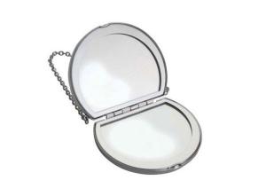 Specchietto borsetta in silver plated cm.6,3x7,5x2h