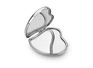 Specchietto cuore in silver plated cm.5,6x6,5x2h