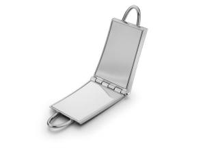 Specchietto shopper in silver plated cm.4,3x8,2x2h