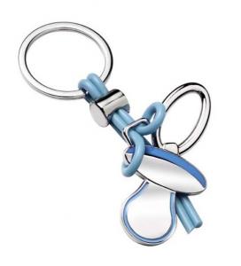 Portachiavi ciuccio azzurro bimbo cm.10x4,5x1,5h