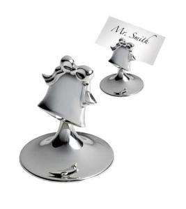 Segnaposto campanella in silver plated cm.5x5x6,5h