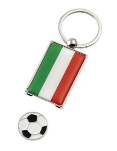 Portachiavi Italia con gettone per carrello cm.8,5x3,5x0,5h
