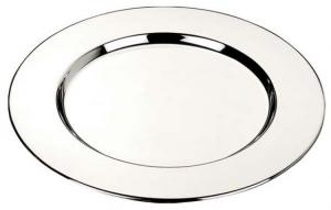 Sottobottiglia liscio stile Cardinale cromato set 2 pz cm.15,2x15,2x1h diam.15