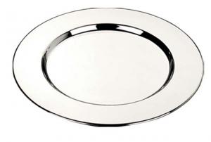 Sottobottiglia liscio stile Cardinale cromato confezione 4 pezzi cm.15,2x15,2x1h diam.15