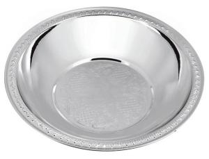 Ciotola tonda bordo lavorato silver plated cm.3h diam.14,5