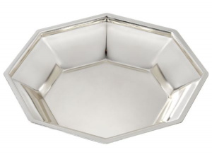 Ciotola ottagonale in silver plated stile ottagonale
