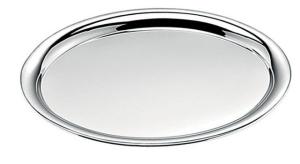 Vassoio ovale cromato cm.22,5x19x1,5h