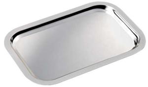Vassoio rettangolare in silver plated con trattamento antiossidante cm.33x22,6x1,5h