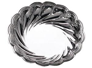 Ciotola rotonda in silver plated