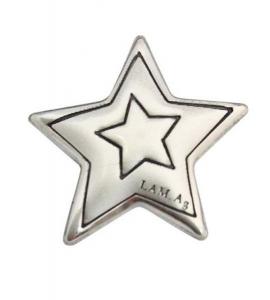 Blasone stella piccola in argento cm.1,8x1,8x0,3h