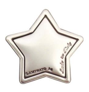 Blasone stella in argento cm.2,4x2,4x0,3h