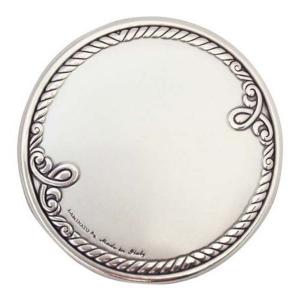 Blasone in argento tondo lavorato in argento cm.0,3h diam.3
