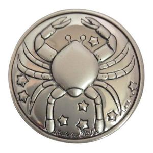 Blasone zodiaco cancro in argento cm.0,3h diam.3
